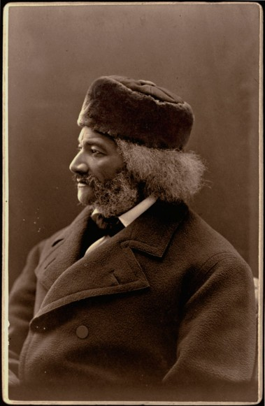 Douglass in fur cap