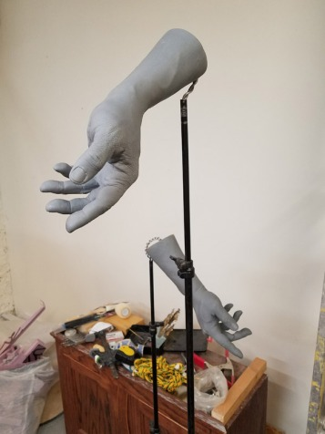 Casts of Kenneth Morris Jr.'s hands were incorporated in Olivia Kim's statue. PHOTO BY CHRISTINE CHRISTOPHER